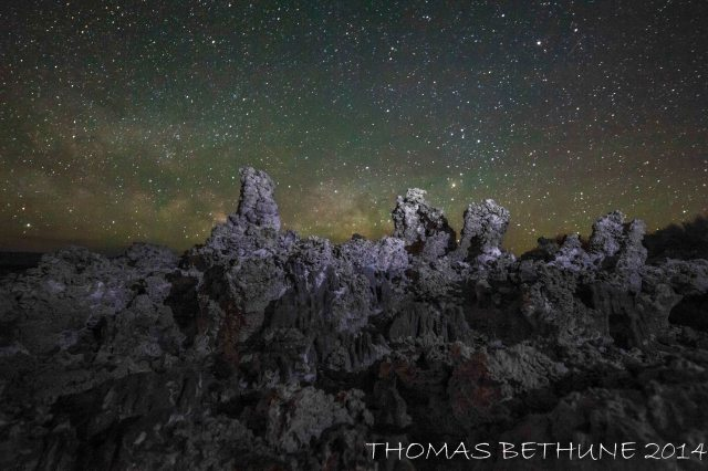The Milky Way rising the night before last at Mono Lake  or Lot's Wife, Still Looking.
