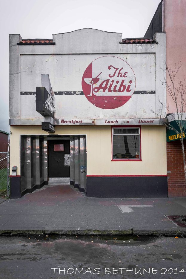 THE ALIBI ON THE ARCATA PLAZA, 2010, SONY R1