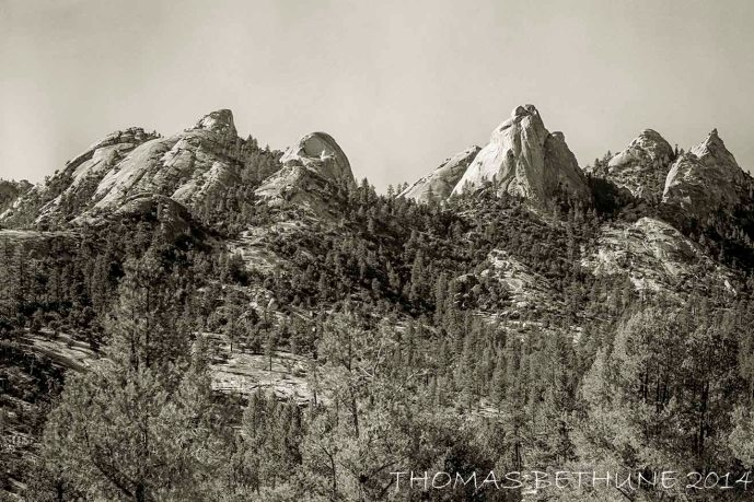 """At the southern end of the Sierra Nevada. Photo taken with 4by5"""" view camera about 1975."""