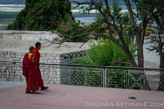 Monks at Sumur Gompa  in the Nubra Valley.