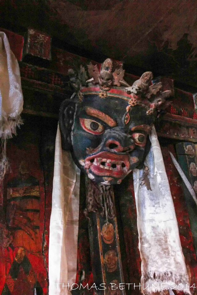 Inside the gompa, Karzok.