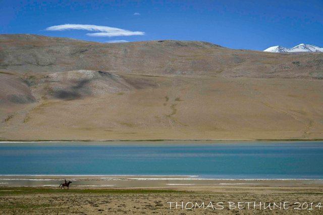 Lonely rider near Karzok