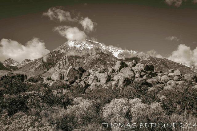 Mount Tom, east side Sierra Nevada Range near Bishop Ca.