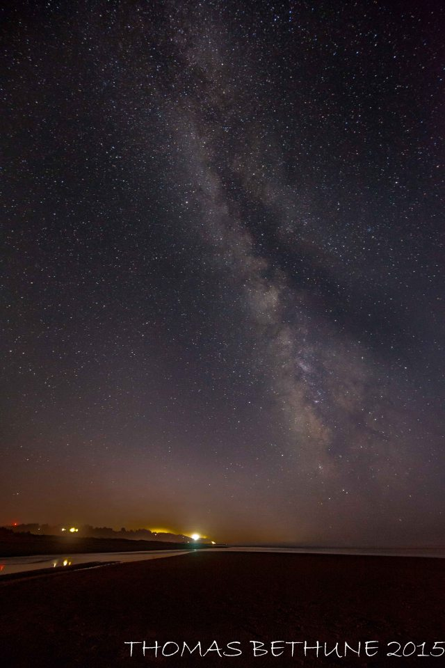 milky way over clam beach-121