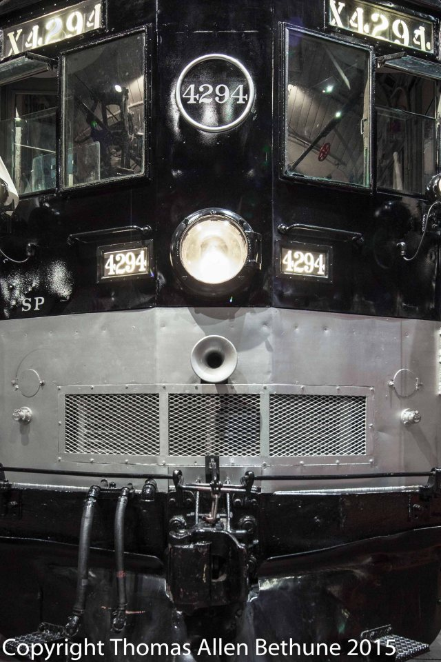 SOUTHERN PACIFIC CAB FORWARD STEAM LOCOMOTIVE AT THE CALIFORNIA RAILROAD MUSEUM IN SACRAMENTO